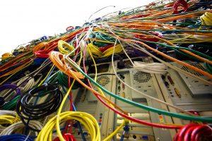 câblage d'un réseau de fibre optique